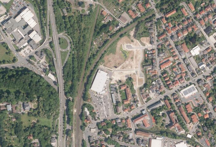 Luftaufnahme der Gaudlitzkreuzung